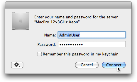 Log in with an administrator user.
