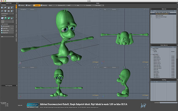 Michael Scaramozzino's Rebuilt, Single Subpatch Mesh, Digit Model in modo 1.0.3 on Mac OS X.4.