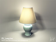 DLI_Lamp.lws - Fully Textured and Lighted Lamp LightWave 3D Object and Scene File