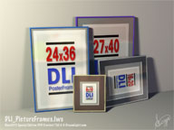 DLI_PictureFrames.lws - Fully Textured and Lighted Lamp LightWave 3D Object and Scene File
