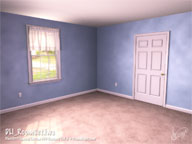 DLI_RoomSet.lws Room Set with window, door and curtains