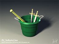 DLI_ToyBucket.lws - Fully Textured and Lighted Lamp LightWave 3D Object and Scene File