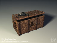 DLI_ToyChest.lws - Fully Textured and Lighted Lamp LightWave 3D Object and Scene File