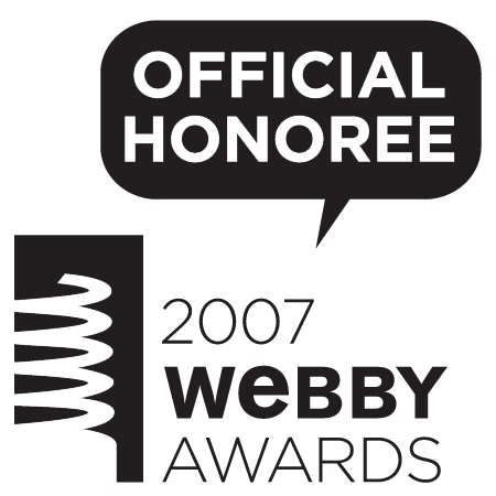 Official Honoree 2007 Webby Awards