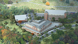 3D Aerial Rendering of Winchester Hospital