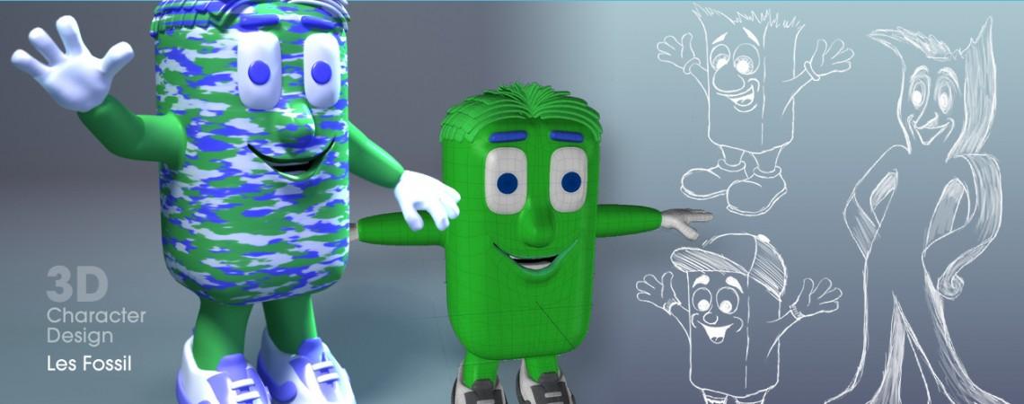 3D Character Design - Les Fossil
